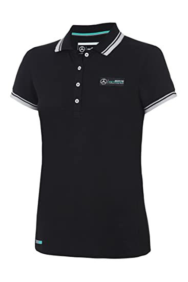 ef4f0ccab Mercedes Benz Petronas AMG Formula 1 Women's Classic Team Black Polo Shirt  (X-Small
