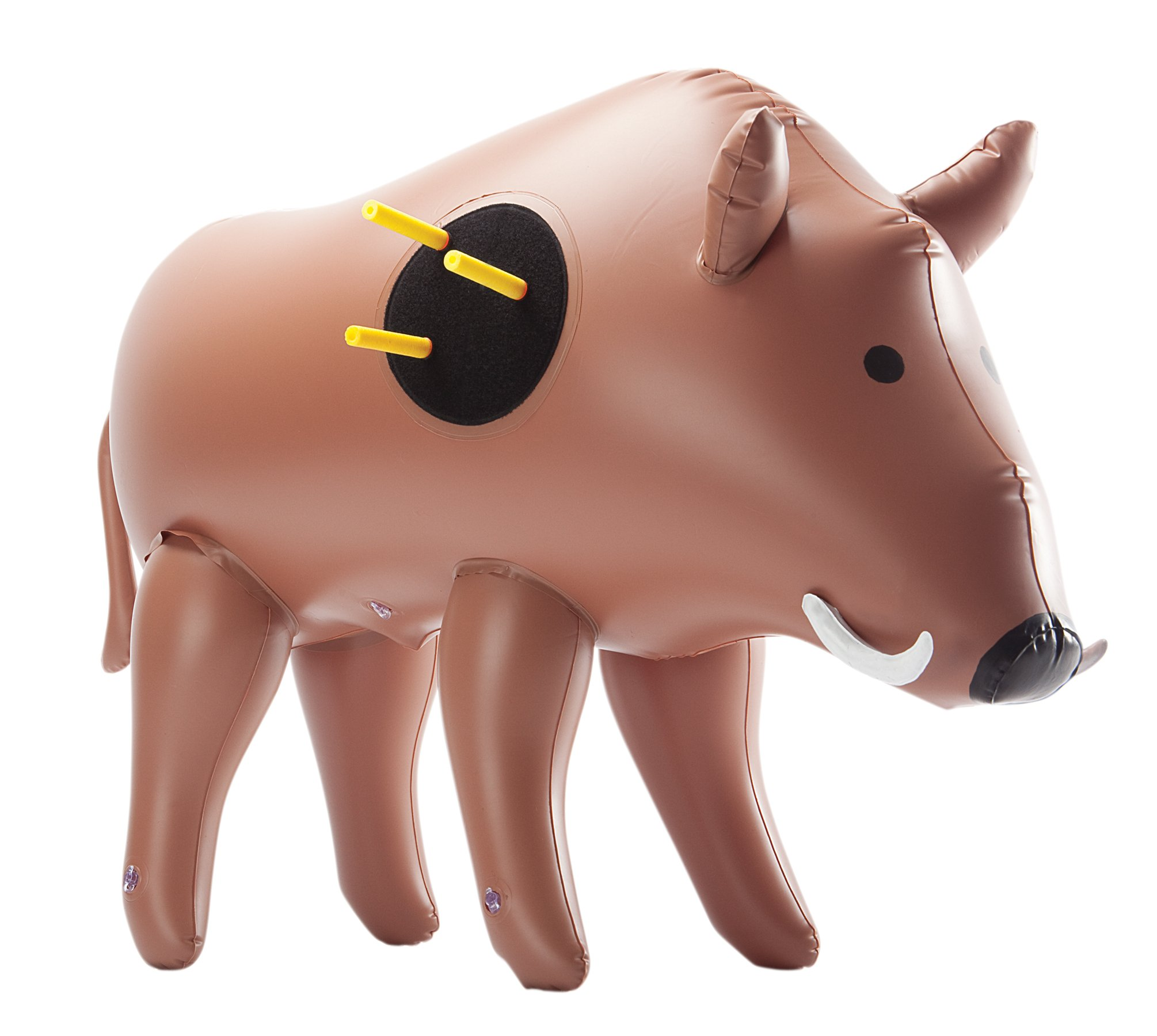 NXT Generation 3D Inflatable Boar Target - Realistic Looking Inflatable Buck - Suitable for Indoor and Outdoor Play - For VELCRO Tipped Nerf Like Foam Darts