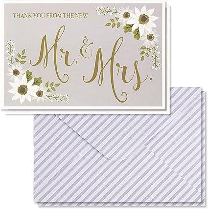 Amazon.com: Tarjetas de agradecimiento para boda – 48 ...