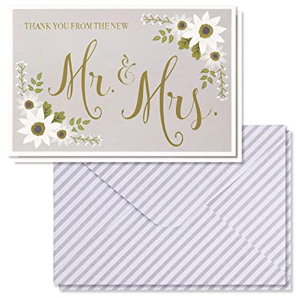 Amazon Com Wedding Thank You Cards 48 Pack Thank You From The