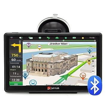 Junsun Navegador GPS 7 Pulgadas con Bluetooth y mapa de 45 países Europa: Amazon.es: Electrónica