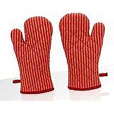 Elan Cotton Marigold Theme Glove 18 X 32 CM (Red) (Set of 2)