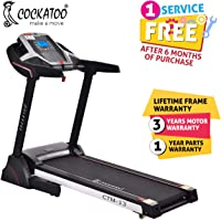 Cockatoo CTM13 Steel 3HP Motorised Treadmill with Manual Incline (Black)
