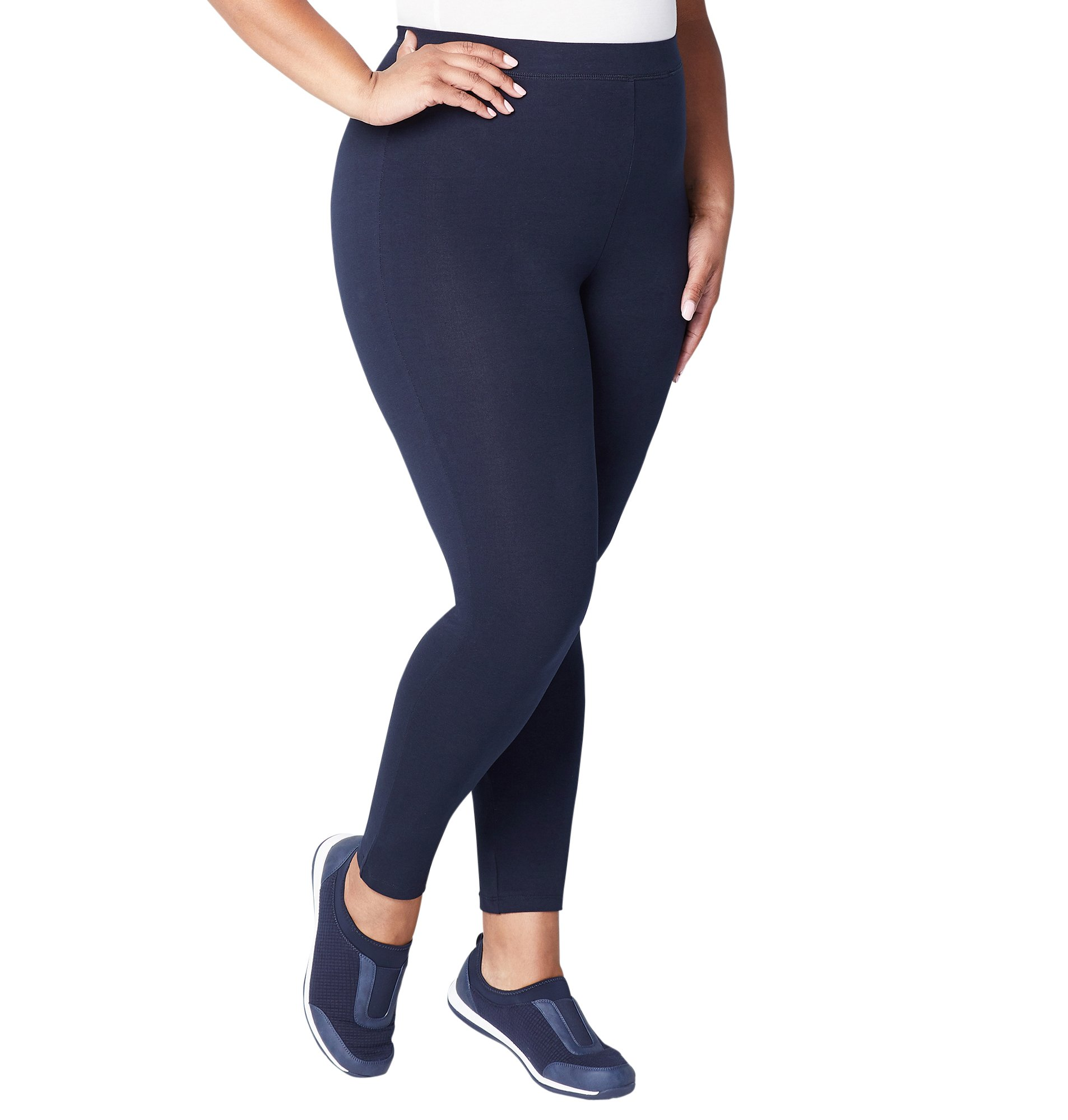 Avenue Women's Pima Cotton Basic Legging, 26/28 Navy