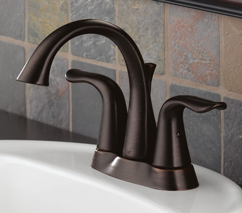 Delta 2538-RBMPU-DST Lahara Two Handle Centerset Bathroom Faucet ...