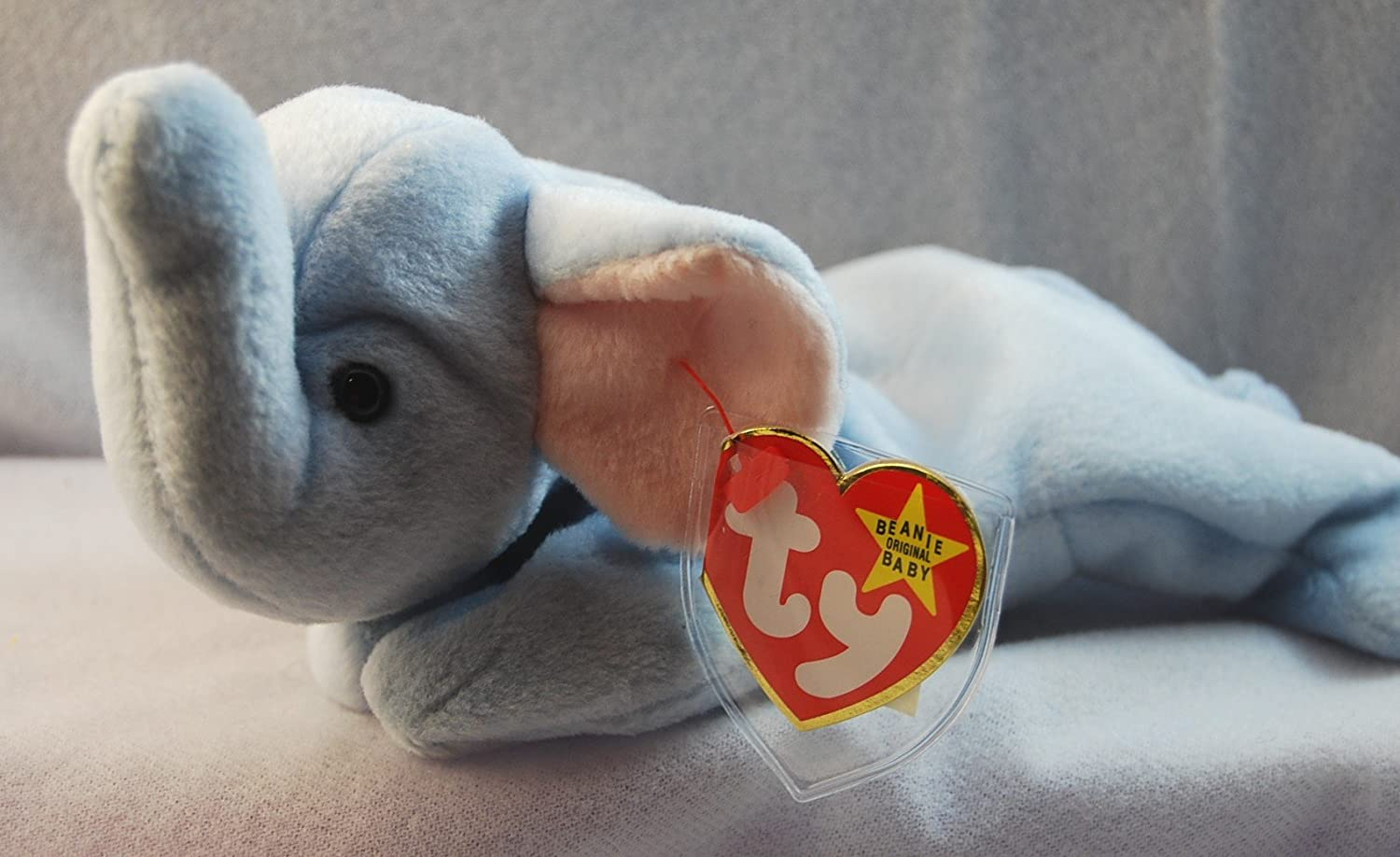 Amazon.com  Ty Beanie Babies - Peanut the Light Blue Elephant  Toys   Games b86708597d4