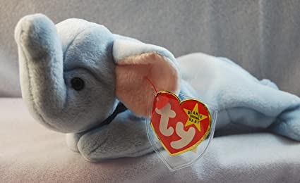 21d74f23bf8 Image Unavailable. Image not available for. Color  Ty Beanie Babies - Peanut  the Light Blue Elephant