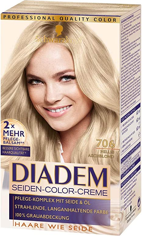 Schwarzkopf Diadem 706 - Tinte de seda, color crema, rubio ...