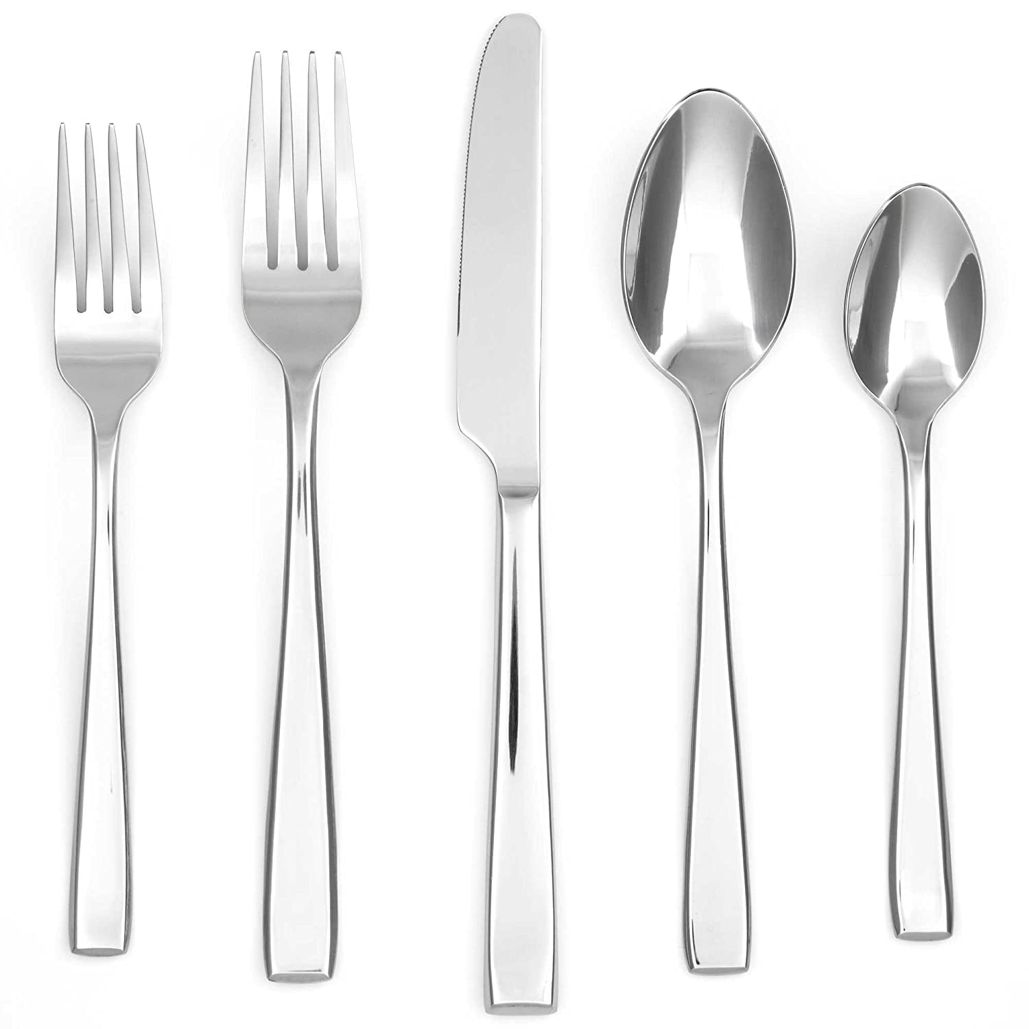 amazoncom cambridge silversmiths logan mirror piece flatware  - amazoncom cambridge silversmiths logan mirror piece flatware setservice for  cell phones  accessories