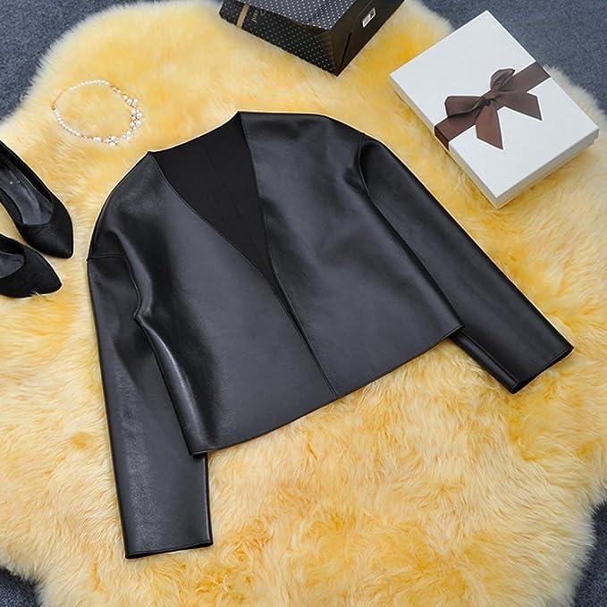 Princer - Chaqueta - para mujer Negro negro XX-Large: Amazon.es: Ropa y accesorios