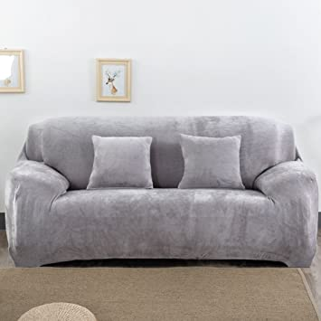 Thick Sofa Covers 1 2 3 4 Seater Pure Color Sofa Protector Velvet