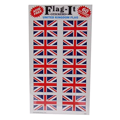 Union Jack (British Flag) Self Adhesive Stickers Pack 50: Arts, Crafts & Sewing