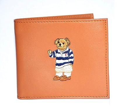 7fc38e2a Polo Ralph Lauren Men's Wallet Lambskin Bifold Brown Bear at Amazon ...