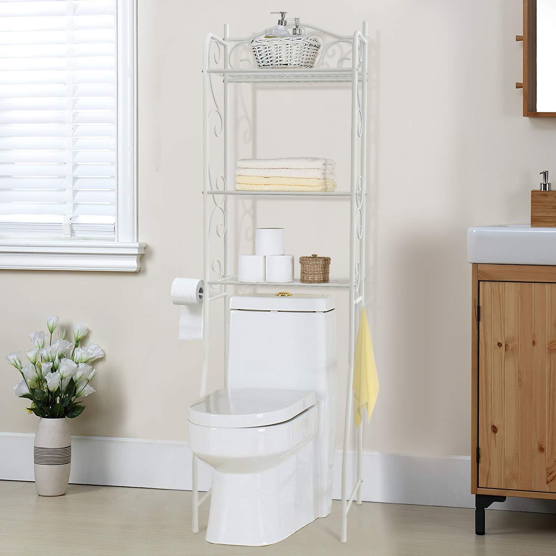 Floor Toilet Bathroom Storage Rack Shelf - mr.sukimoako