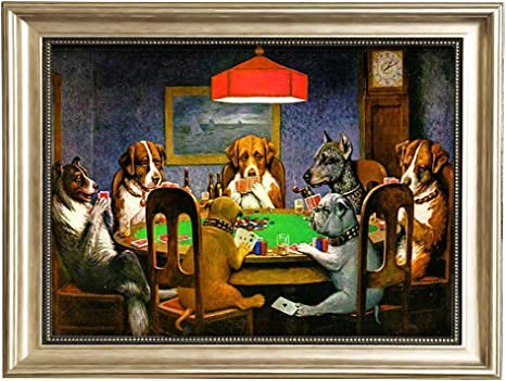 Art Print Poster Canvas Dogs Playing Poker