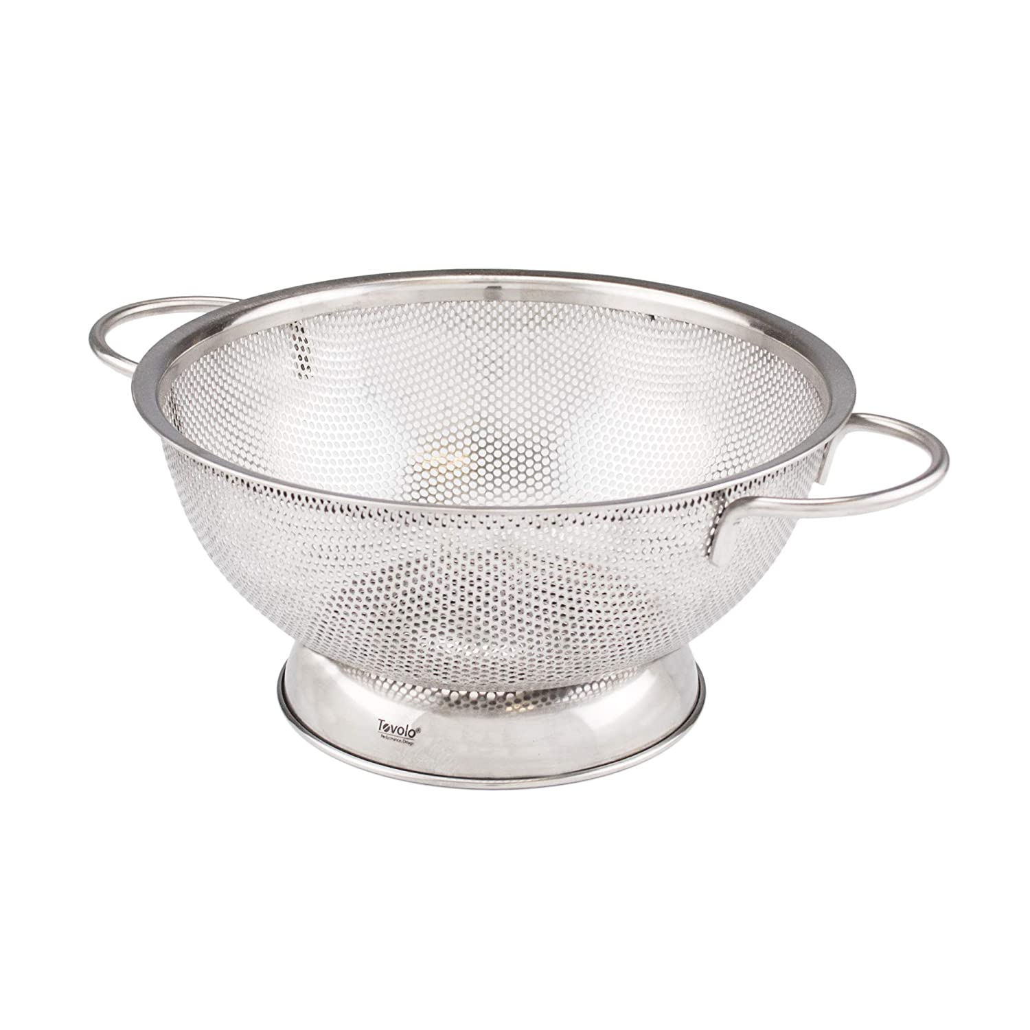 Tovolo Stainless Steel Colander, Looped Handles, Rust Preventing, 2 Quart