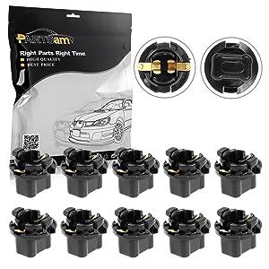 Partsam 10PCS 16mm T10 Wedge 2962988 2973932 Instrument Panel LED Light Base Socket Holder for Plymouth Dodge Chrysler