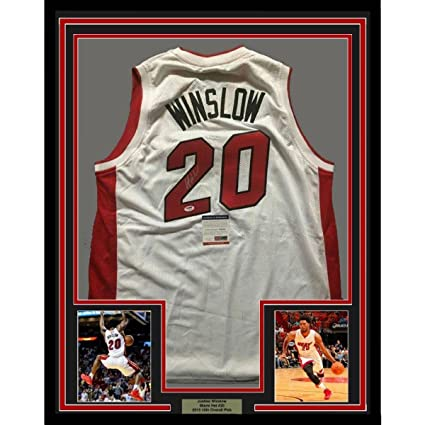 innovative design 1b6ab 291a0 Autographed Justise Winslow Jersey - FRAMED 33x42 White COA ...