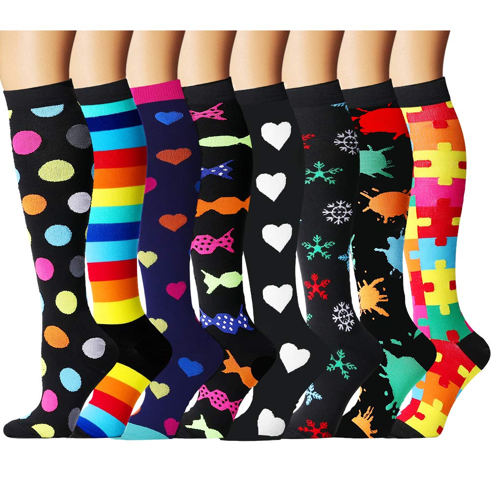Laite Hebe Compression Socks for Women and Men - Best Medical,for Running, Athletic, Varicose Veins, Travel