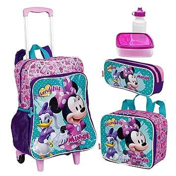 a6ae67ed05 Kit Mochila Infantil Minnie 19M Plus Lancheira Estojo Sestini ...