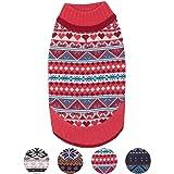 Blueberry Pet 4 Patterns Holiday Season Nordic Fair Isle Snowflake Dog Sweater