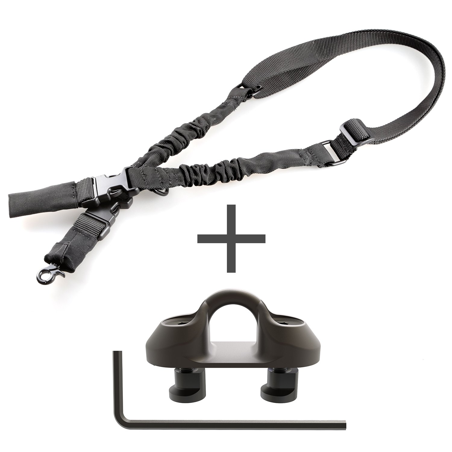 Tough Tactical Tools Keymod Sling Attachment Adapter with 2 Point Gun Sling for Hunting Shooting or other Outdoor Sports by Tough Tactical Tools (Image #1)