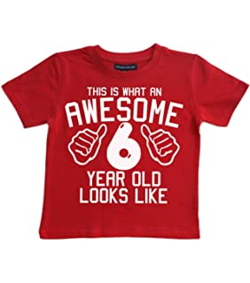 Edward Sinclair This What AN Awesome 6 Year Old Looks Like Red Boys 6th Birthday T