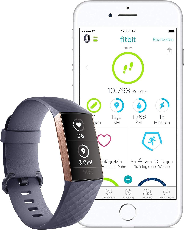 Fitbit Charge 3 Gesundheits- und Fitness-Tracker mit Bewegungserinnerung