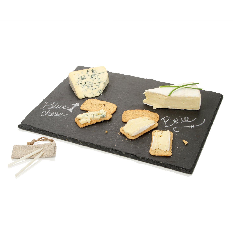 Boska 359011tagliere per formaggio con gesso, taglia xl, pietra, Nero