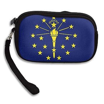 Amazon.com: Monedero de Indiana bandera con cremallera ...