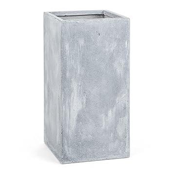 Blumfeldt Solidflor Pflanzkubel Pflanztopf Ubertopf Blumentopf 40 X 80 X 40 Cm Fiberton Beton Optik Frostsicher Niedriges Gewicht Sicherer