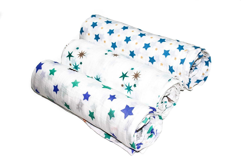 120cm x 120cm Ideal as a Blanket Oranges /& Lemons Ultrasoft Bamboo//Cotton Muslin Blanket Set Nursing Cover Swaddle Security Blanket and More!