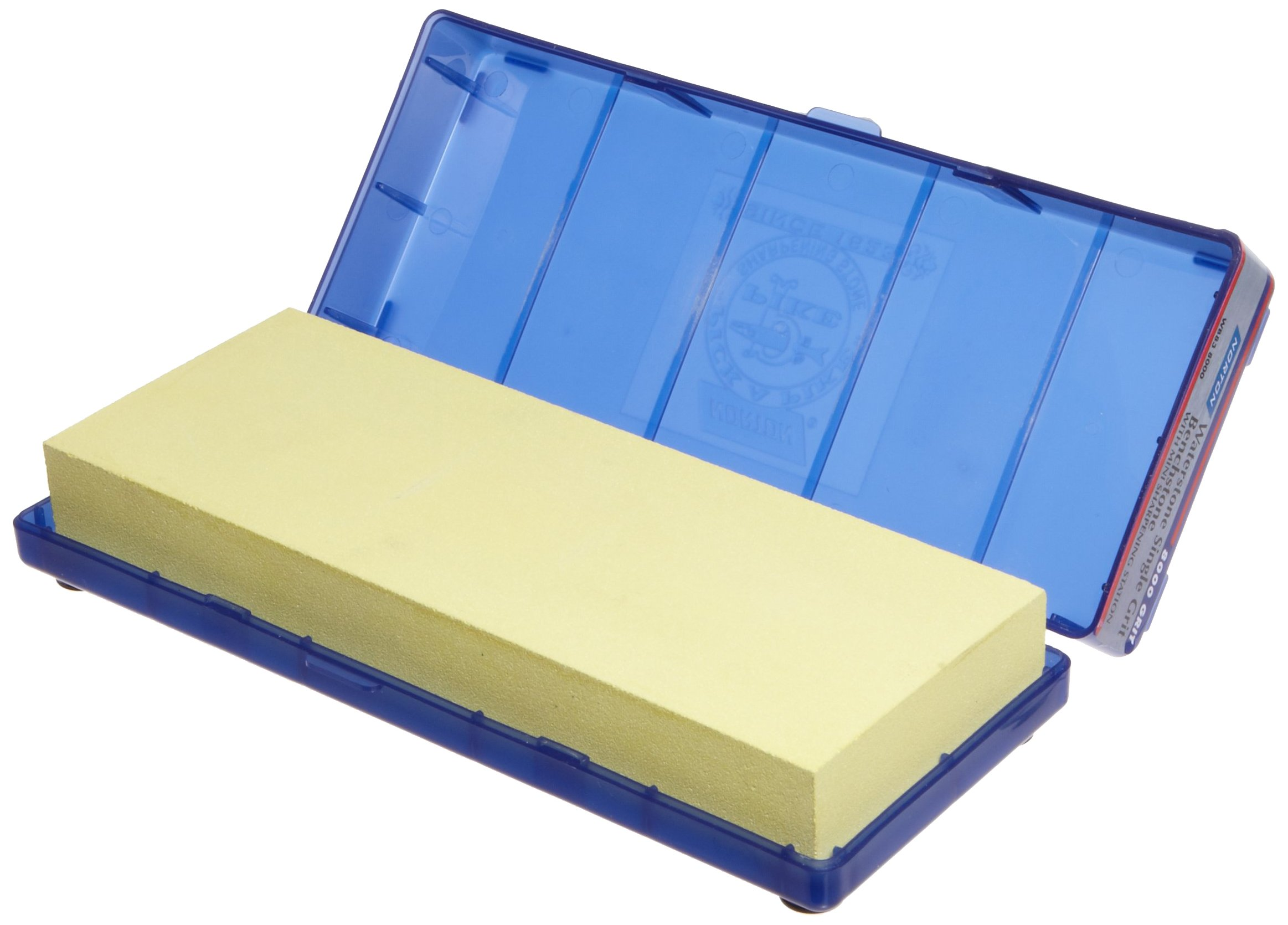 Norton Waterstone, 8000 grit, 1'' x 3'' x 8'' in Blue Plastic Hinged Box by Norton Abrasives - St. Gobain (Image #1)