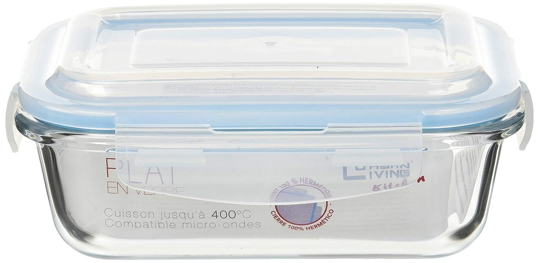 MI CASA Fiambrera HERMT Cristal 17.5X13X6.5CM: Amazon.es: Hogar