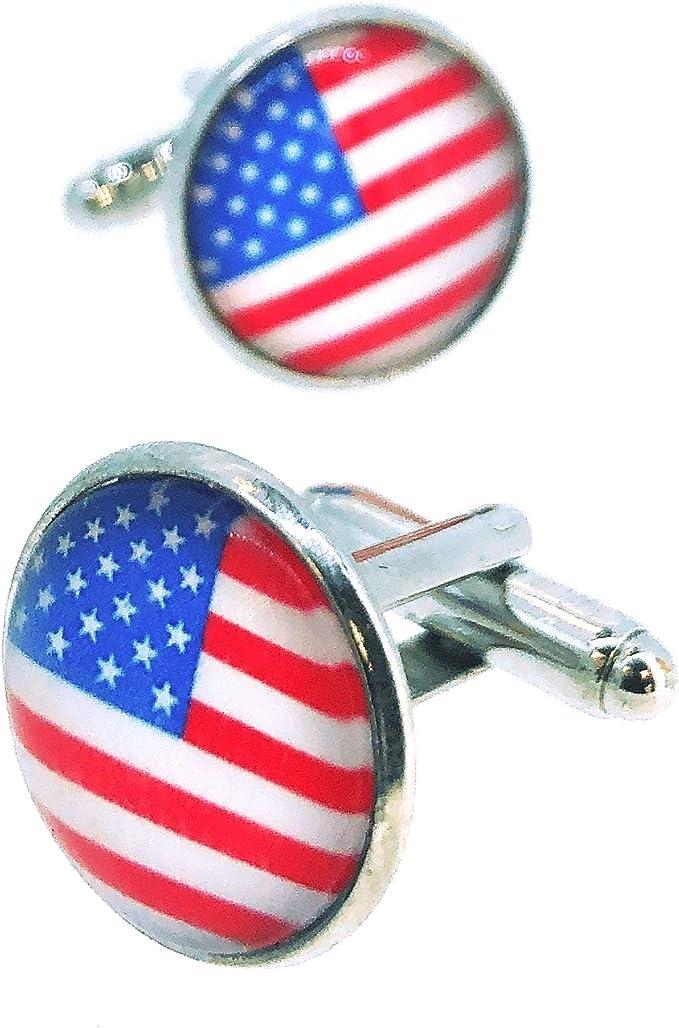 Gemelos para Camisa Bandera de Estados Unidos: Amazon.es: Ropa y accesorios
