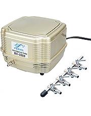 Pawfly MC-3000 Commercial Air Pump Quiet Oxygen Pump for Aquarium Pond, 4 Outlets, 8 W, 16 L/min