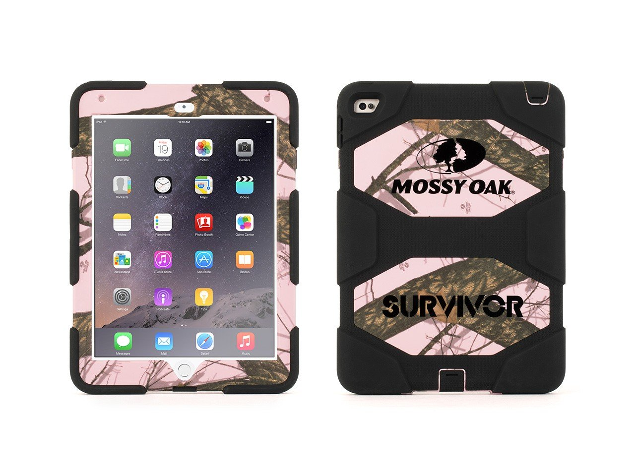38ac364f55 Griffin Obsession/Black Survivor All-Terrain in Mossy Oak  Camo + Stand for iPad  Air 2 - Military-Duty Case for iPad
