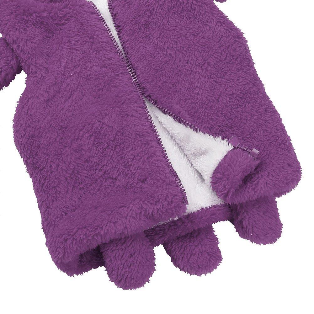 Glareshop - Abrigos - para bebé niña Morado Violeta 6-9 Meses: Amazon.es: Ropa y accesorios
