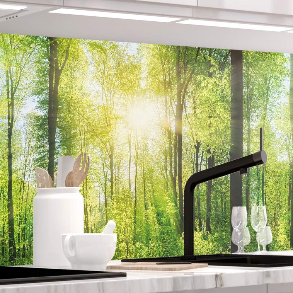 StickerProfis Küchenrückwand selbstklebend Premium Wald 60 x 400cm DIY - Do It Yourself PVC Spritzschutz