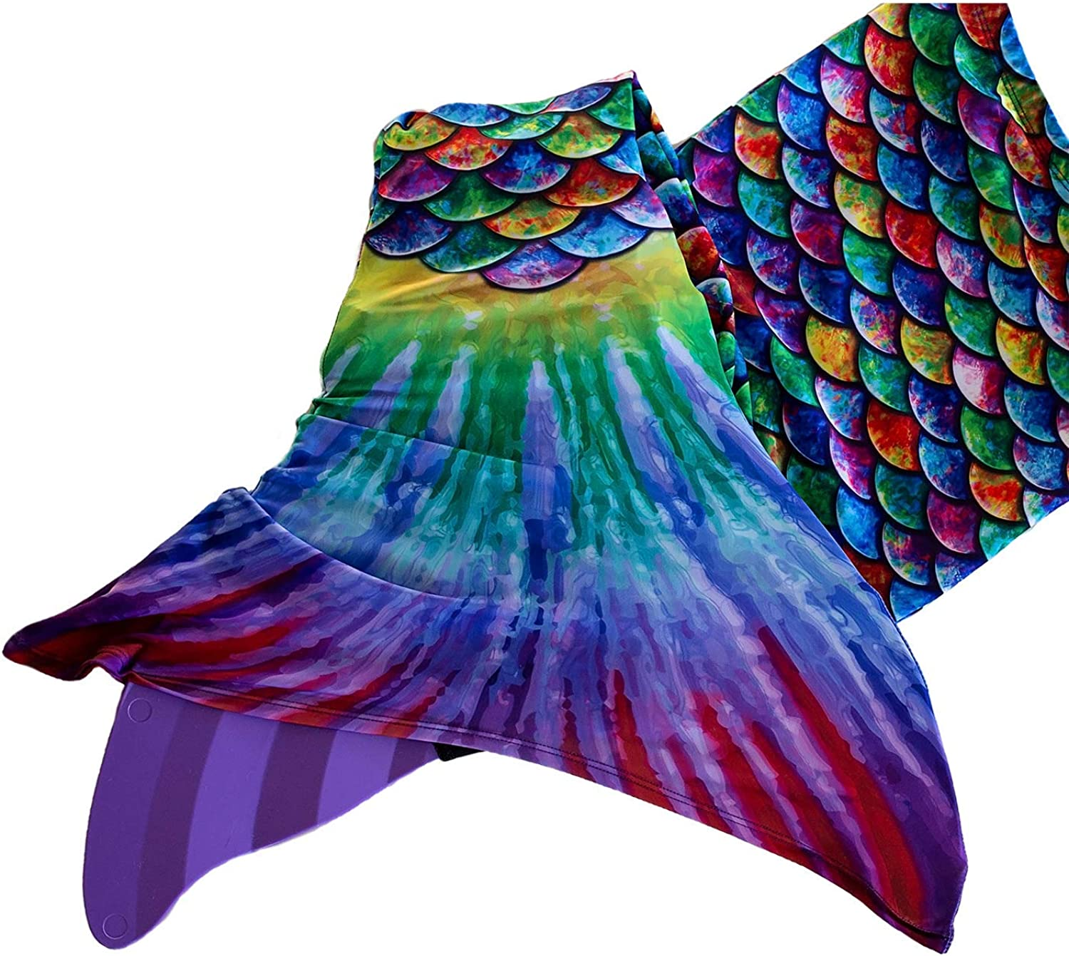 Adult Sizes Mermaid Tail and Monofin for Swimming with MER-Shield Tip Protection