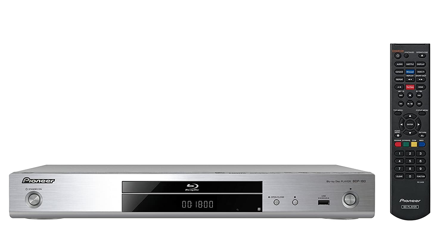5ca369e03 Pioneer BDP-180-S 3D Blu-ray Player with 4K Upscaling: Amazon.co.uk:  Electronics