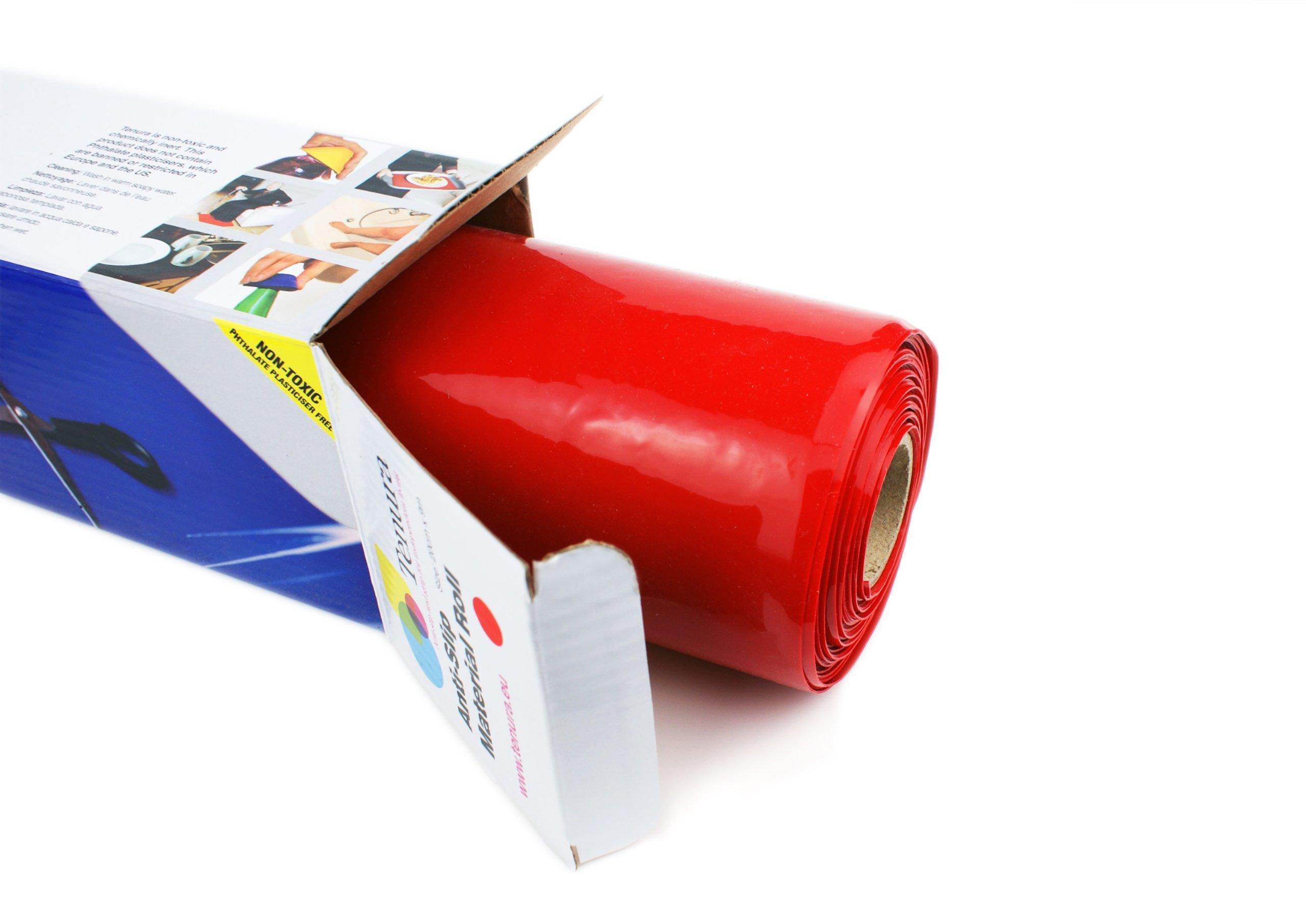 Tenura 75376-1301 Red Silicone Non-Slip Roll, 3-1/5' Length x 11-4/5 Width