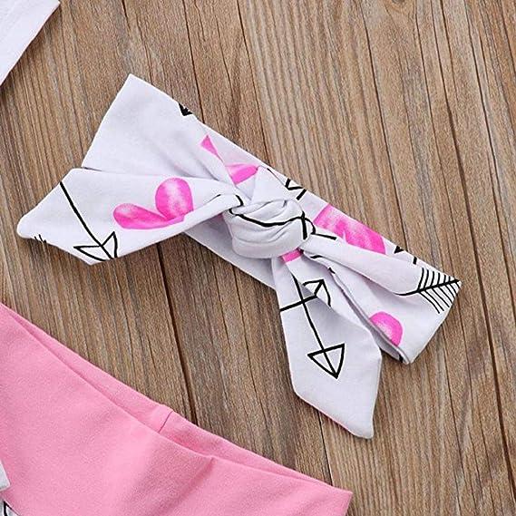 Ropa Bebe Niña Verano 2019 SHOBDW Mono Bebé+Pantalones Cortos+Diadema Mono Bebé Niña Letra Impresa Conjuntos Bebé Niño Ropa Bebé Niña Recién Nacida: Amazon.es: Ropa y accesorios