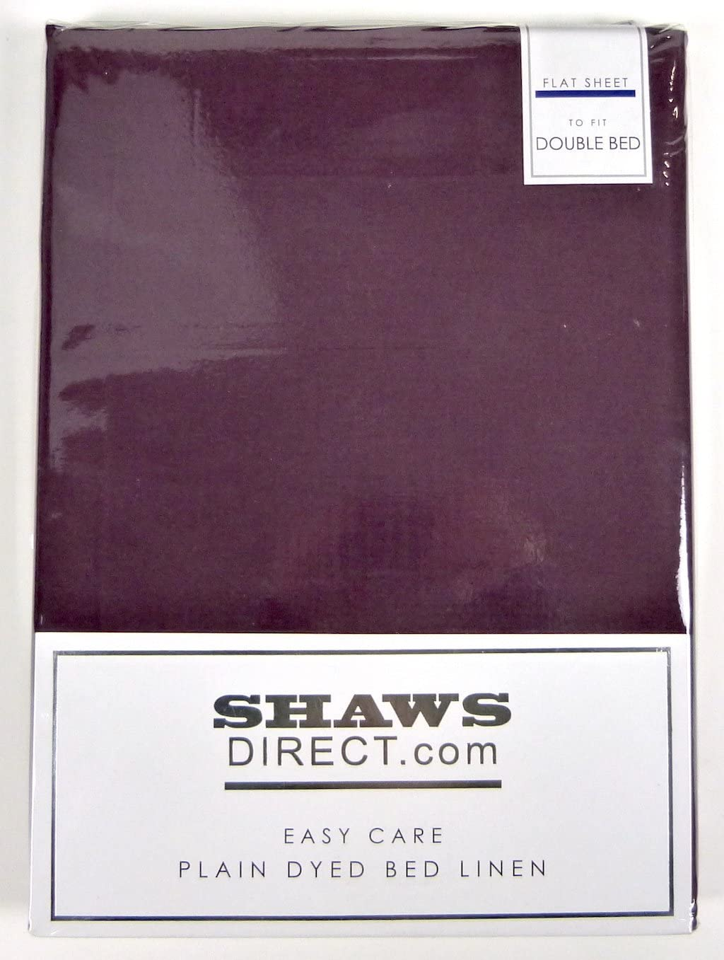 Double, Black ShawsDirect Bed Linen Easy Care Polycotton Flat Sheet