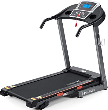 """MARNUR Electric Treadmill Foldable 17"""" Wide Running Machine 3 Levels Manual Incline 2.5 HP Power 15 Preset Program Easy Assembly Max Speed 8.5 MPH with Large Display & Cup Holder for Home Use"""