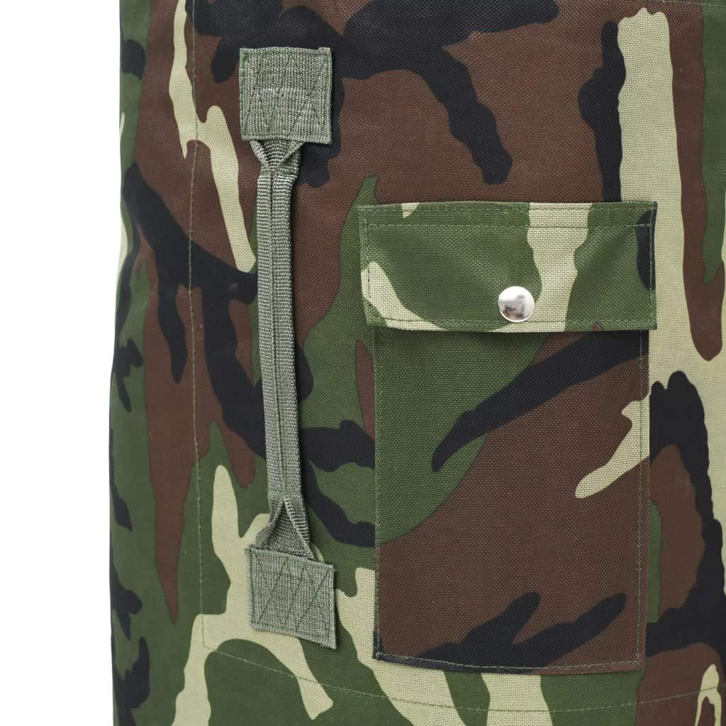 tidyard Mochila T/áctica Militar Bolso de Lona Militar Impermeable de Tela Oxford Recubierta 85L 30x30x90cm Negro