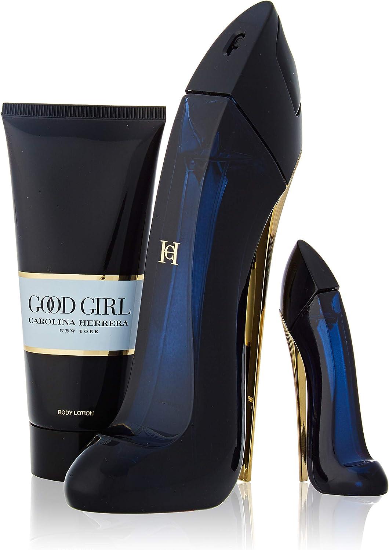 CAROLINA HERRERA GOODGIRL Eau DE Parfum 80ML VAPORIZADOR + LOCION Corporal PERFUMADA 100ML + Miniatura 1UN. Unisex Adulto, Negro, Único