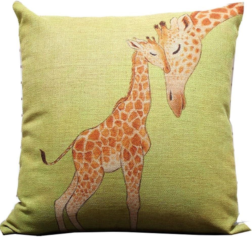 Giraffe Pillow Cover Faux Fur Pillow 16x16 set of 2