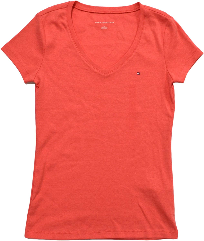 Tommy Hilfiger Womens V-Neck Short Sleeve T-Shirt