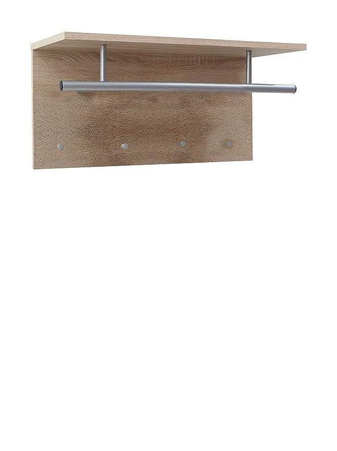 FMD Möbel 441-001 Spot - Perchero con estante (72 x 35 x 29,5 cm), color roble: Amazon.es: Hogar